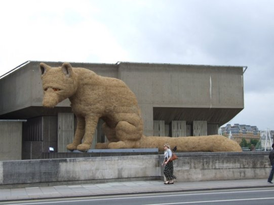 Giant fox on the South Bank