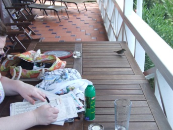 The finches liked to help with the crossword