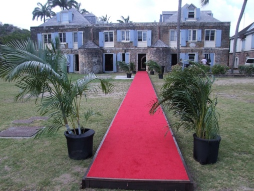 red carpet at Nelson's Dockyard