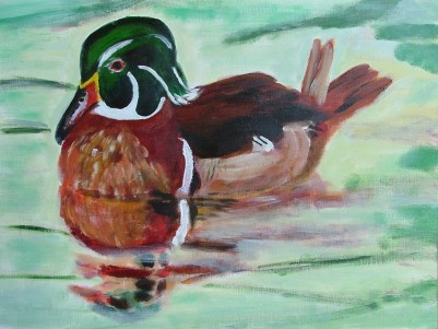 Duck (40x30cm acrylic September 2005)