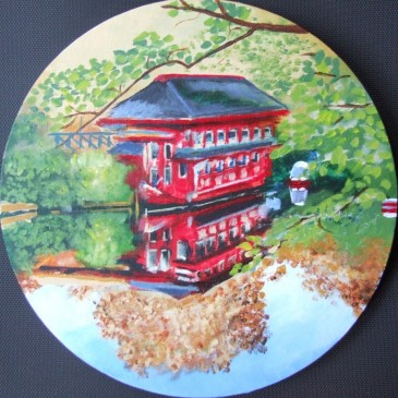 Floating Restaurant in Camden (30cm acrylic October 2006)