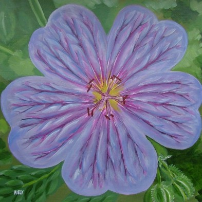 Purple Flower (30x30cm acrylic December 2005)