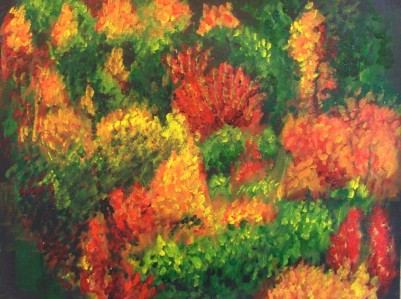 Forest (40x30cm acrylic September 2005)