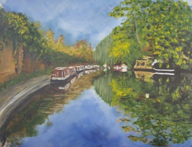 Grand Union Canal (65x50cm acrylic January 2008)