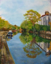 Grand Union Canal (40x50cm acrylic December 2005)