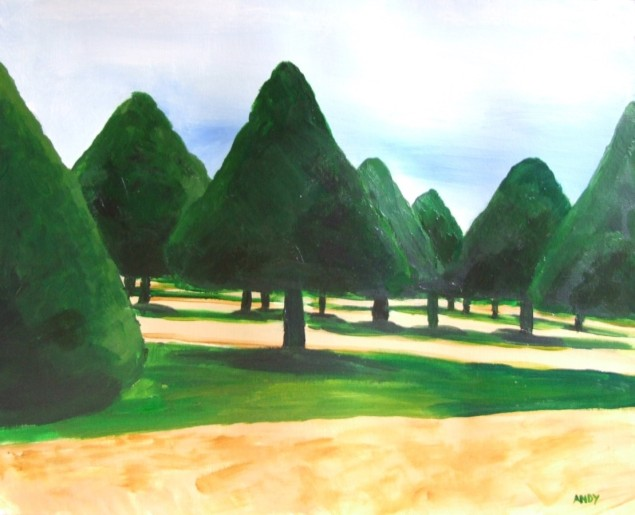 Hampton Court (50x40cm acrylic June 2007)