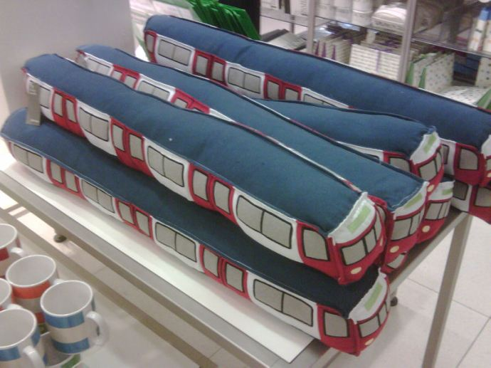 Tube train draught excluders.