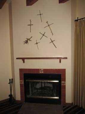 Our room looks like a religious nut-job serial killer lives here