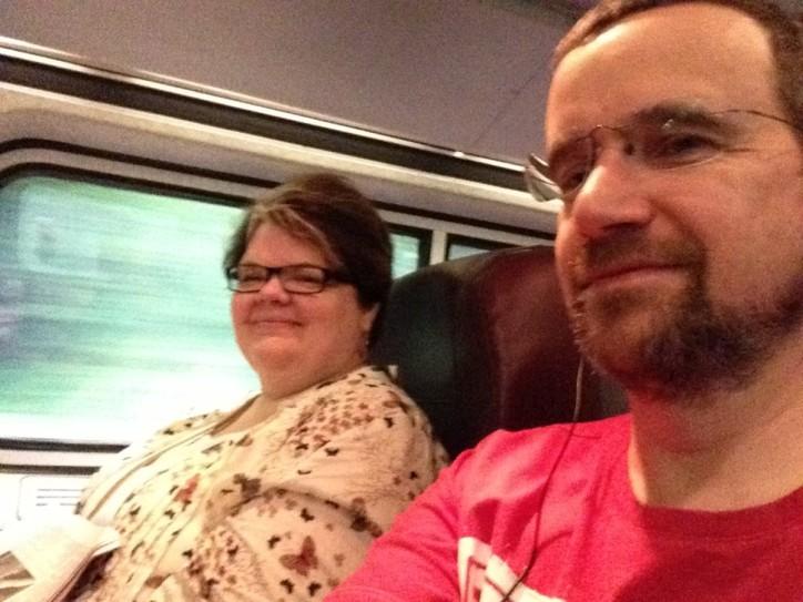 Amtraking it up state to Niagara. So long NYC