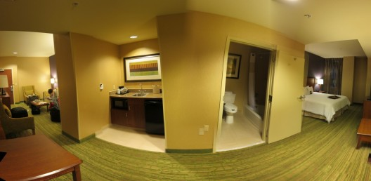 Our hotel room is massive