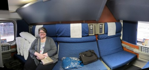 "Our ""Family Room"" on board the train"