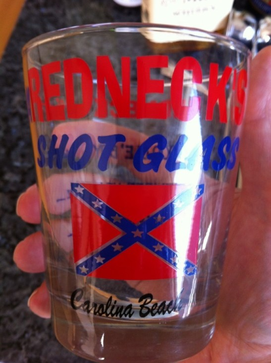 Souvenir Redneck shot glass
