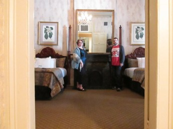 "Us in our ""nice"" room."