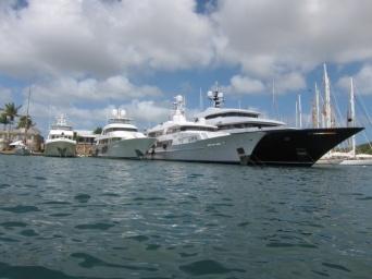 yachts at Nelson's Dockyard