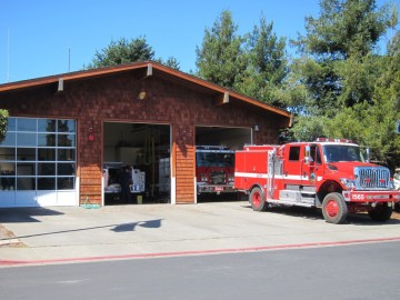 Fire Dept, Point Reyes Station, California