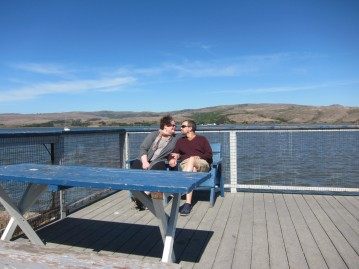 Sitting on the dock of the bay at Tomales Bay Resort