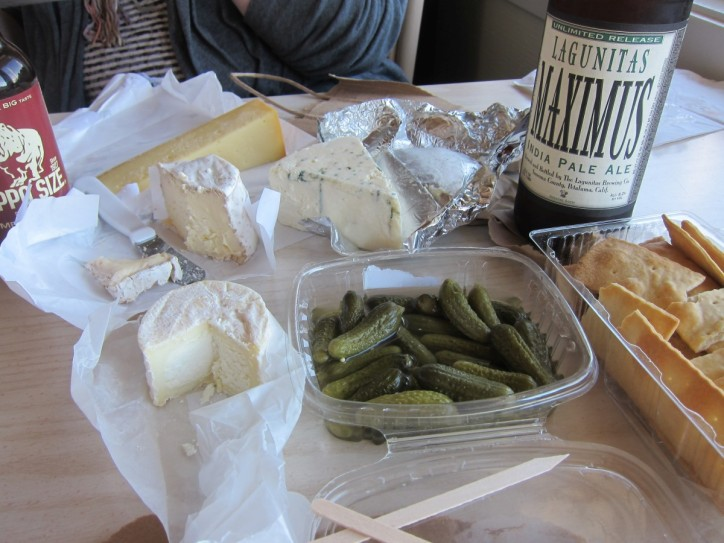 Cowgirl Creamery cheese and Lagunitas Maximus Pale Ale for lunch