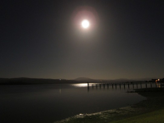 Moonrise at Tomales Bay Resort