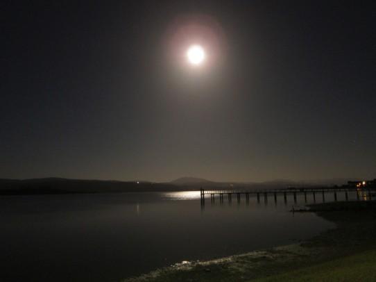 Moonrise at Tomales Bay Resort