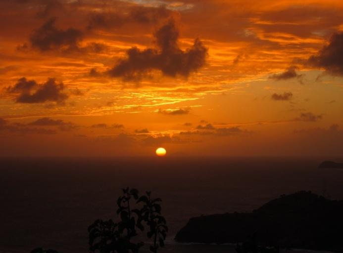 Sunset over Redonda