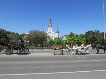Jackson Square and St. Louis Cathedral.
