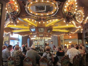 The revolving Carousel Bar at Hotel Monteleone