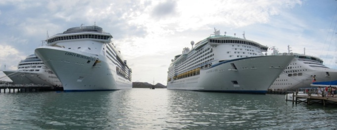 Royal Princess, Costa Mediterranea, The Black Swan, Adventure of the Sea and Sea Princess.