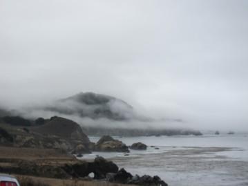 Foggy morning drive