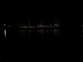 night view of the harbour from Reef Garden
