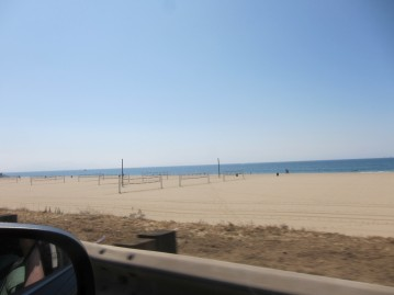 Loads of beach volleyball courts