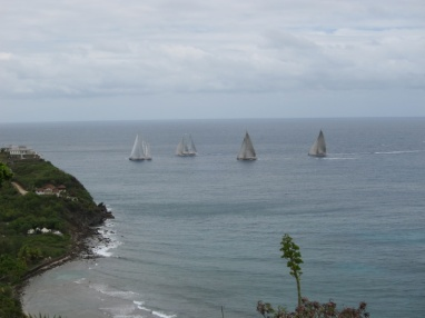 We watched the classic yacht race from their deck.