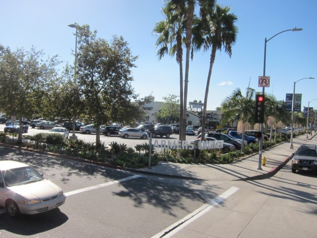 The Farmers' Market looks like a car park - mind you, so does most of L.A.