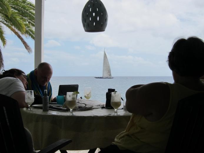 ...and John makes Pina Coladas.