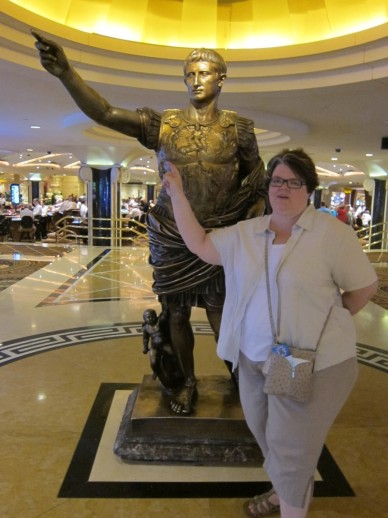 Michelle with Caesar