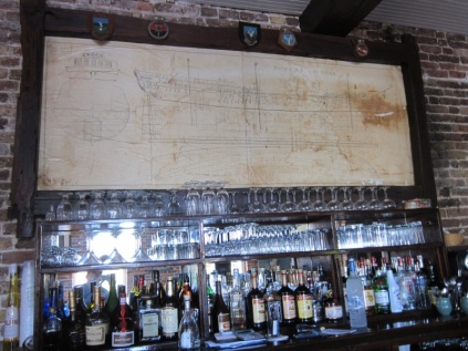 Admiral's Inn (with blueprints of HMS Boreas 1757). This is the only bar to make a daquiri from scratch using fresh limes.