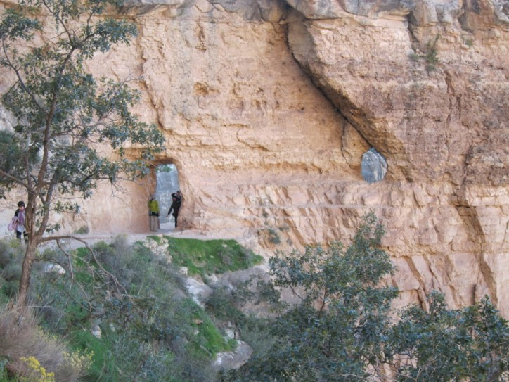Part of the Angel Trail down into the canyon.