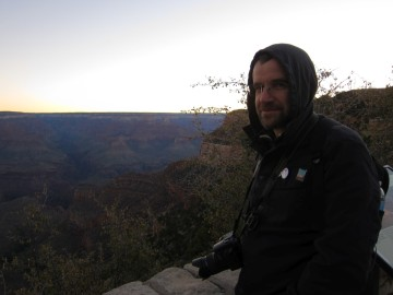 Pre-dawn at the canyon rim