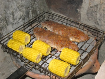 the fish is slathered in mega-hot jerk seasoning.