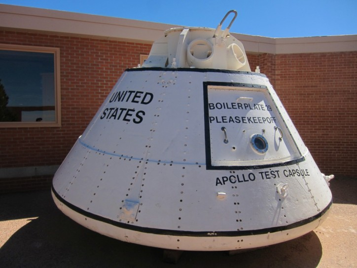 Apollo capsule at Meteor Crater. And why not?