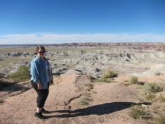 Michelle at Painted Desert