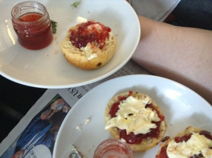 In-flight scones
