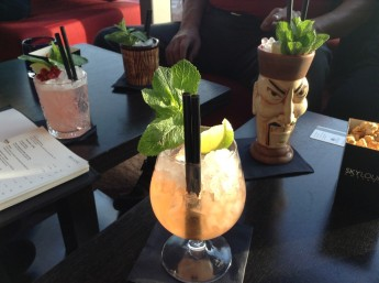 Tikki drinks in the Sky Lounge @ Doubletree