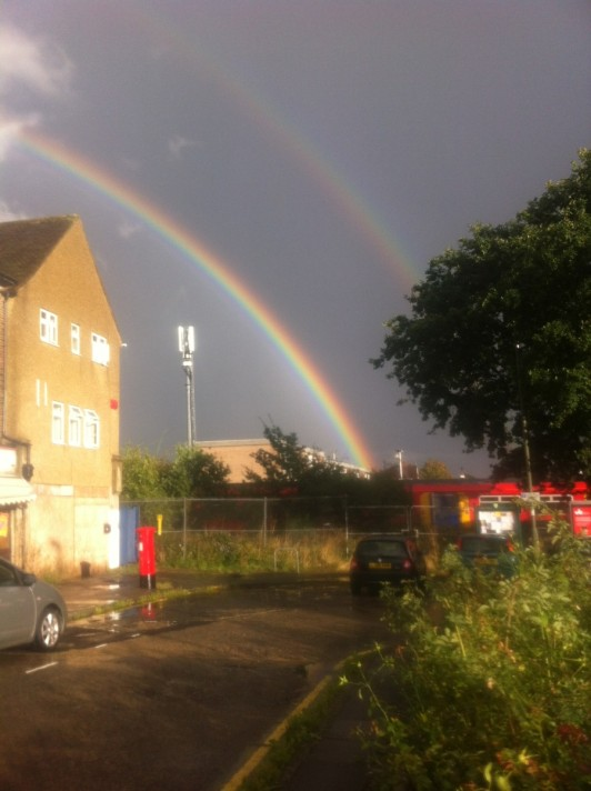 Double rainbow @ Stoneleigh