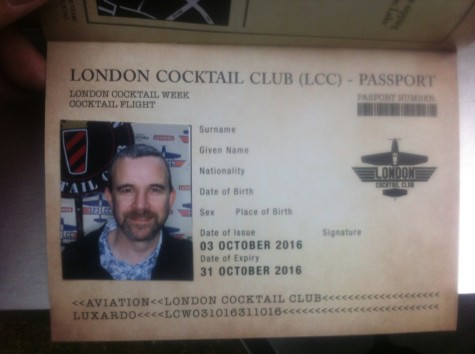 London Cocktail Club passport - this is so cool