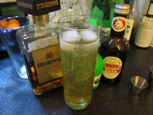 DCN: Disaronno Mule (1 0.5 Disaronno, 0.5 lime juice, ginger beer, soda)