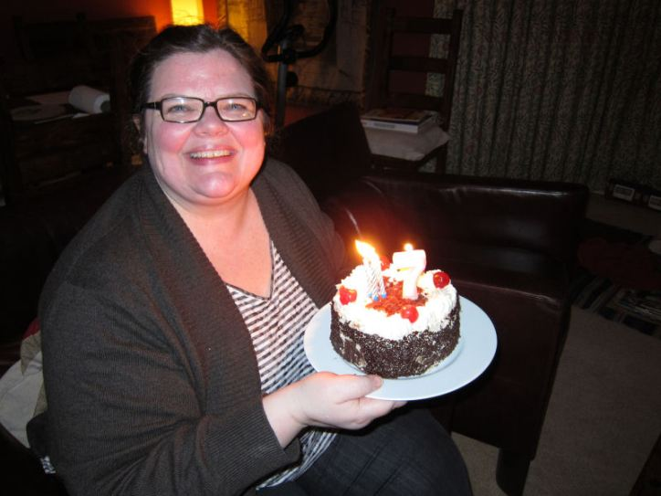 Michelle and her Birthday Cake