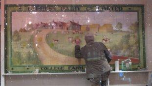 Restoring the tiles @ Avalon Flowers