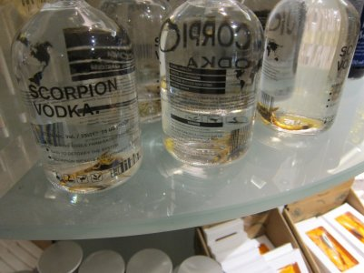 vodka with scorpions in!