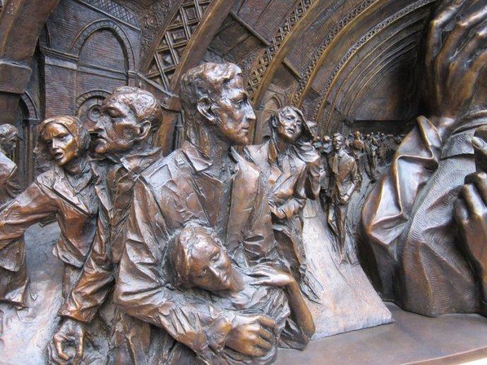 Detail of statue @ St. Pancras