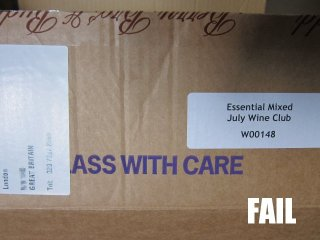 Label placement FAIL